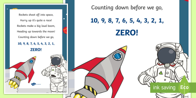 Rockets mathematics counting Display Poster - Mathematics, Rhyming Songs, song, rhyme, counting, mathematics, space, astronaut, rocket, counting,