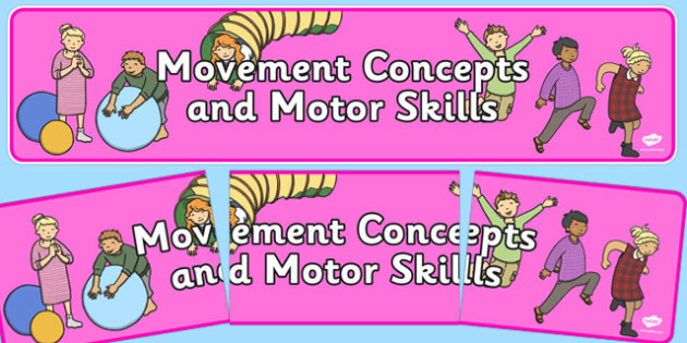 Movement Concepts and Motor Skills Display Banner NZ - nz, new zealand, movement