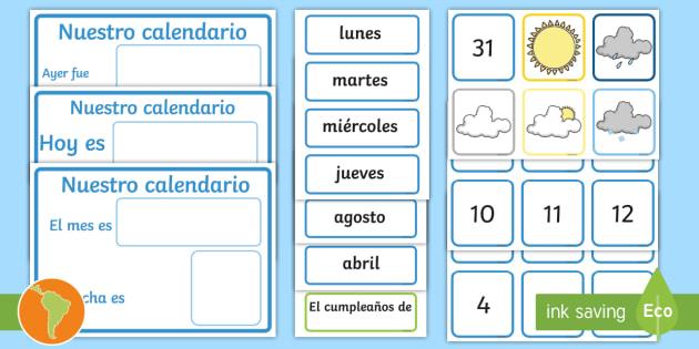 Calendario Diario.Posters El Calendario Diario Y El Tiempo Tiempo Clima