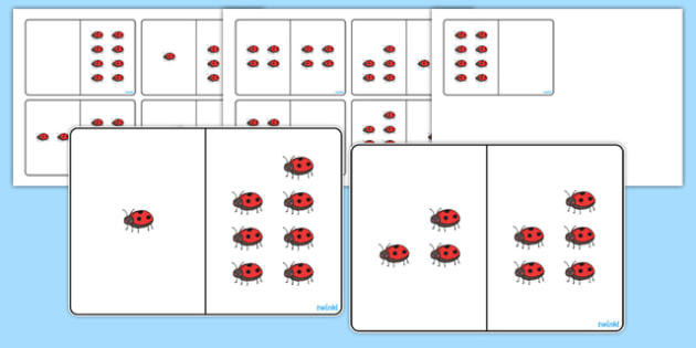 Ladybird Counting Number Bonds to 8 - number, bonds, counting