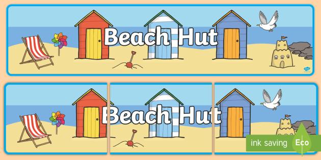 Beach Hut Banner