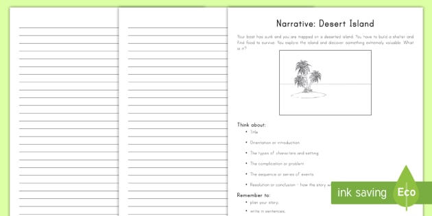 Narrative Text Writing Worksheet / Worksheet (teacher Made)