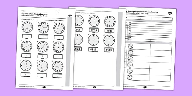 KS2 Reasoning Test Read Write and Convert Time Between Analogue and Digital 12 hour Clocks - Key Stage 2, KS2, Reasoning, Test, Practice, Measurement, Time
