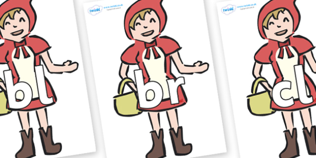 Initial Letter Blends on Little Red Riding Hood - Initial Letters, initial letter, letter blend, letter blends, consonant, consonants, digraph, trigraph, literacy, alphabet, letters, foundation stage literacy