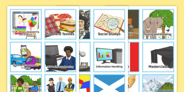 Curriculum for Excellence Visual Timetable - cfe, scotland, scottish, time, classroom, organisation, third, class, management