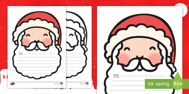 Letter to santa writing templates englishportuguese letter to letter to santa writing templates englishportuguese letter to santa template writing pronofoot35fo Gallery