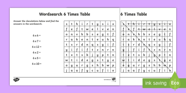 Multiplication 6 times tables wordsearch worksheet multiplication 6 times tables wordsearch worksheet multiplication 6 times tables wordsearch worksheet ibookread Download