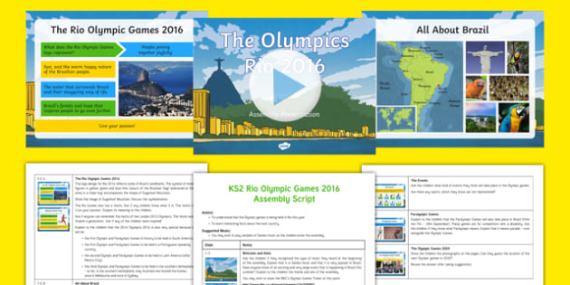 KS2 Rio Olympic Games 2016 Assembly Pack