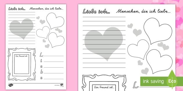 """Liebe ist..."""" Valentinestag Arbeitsblatt - Valentinstag"""