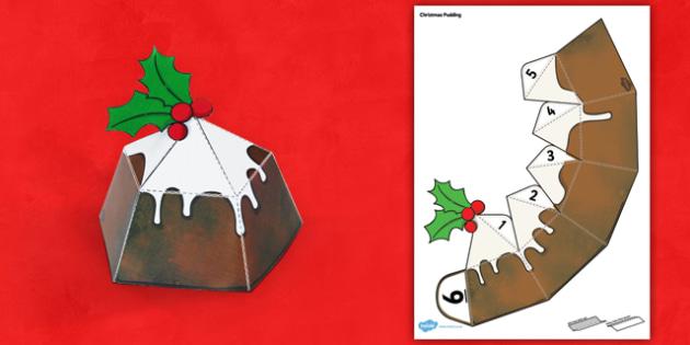 Christmas Cake Paper Model - christmas, cake, paper, model, craft