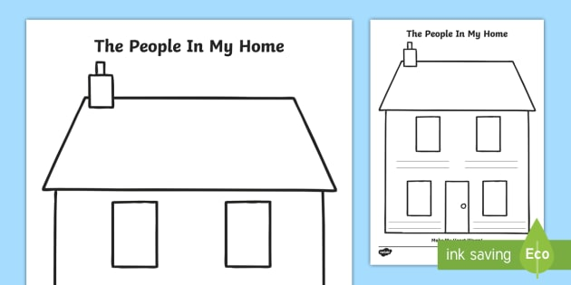 The People In My Home Worksheet / Worksheet - Grade 1 Social ...