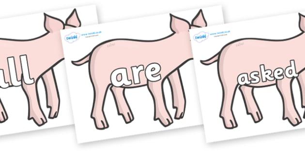 Tricky Words on Piglets - Tricky words, DfES Letters and Sounds, Letters and sounds, display, words