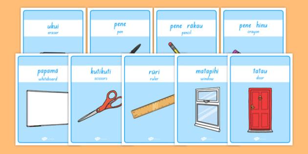 Classroom Equipment Labels Te Reo Māori Translation - nz, new zealand, classroom, equipment, labels, māori,