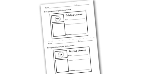 - Template Roleplay Free Role Role-play Play Driving Licence