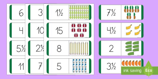Dominos de mitades y cuartos