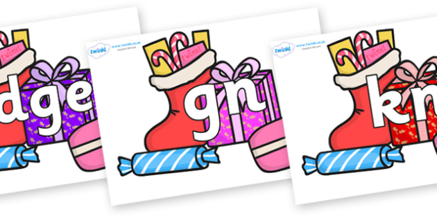 Silent Letters on Christmas Gifts - Silent Letters, silent letter, letter blend, consonant, consonants, digraph, trigraph, A-Z letters, literacy, alphabet, letters, alternative sounds