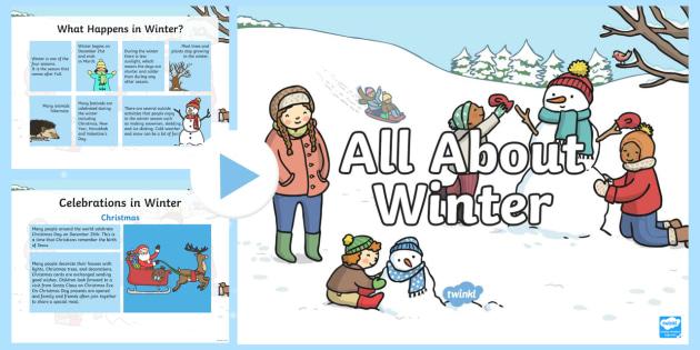 all about winter powerpoint hibernation migration winter