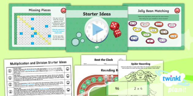 PlanIt Maths Y4 Multiplication and Division Starter Ideas Pack