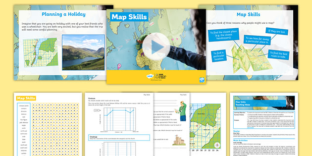 BBC Children in Need: Geography Map Skills Lesson Pack
