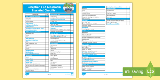 Reception Classroom Design ~ Reception classroom essentials checklist