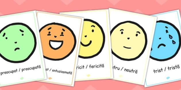 Emoții - Poster - emoții, poster, sentimente, dezvoltare personală, romanian, inteligență emoțională, materiale, materiale didactice, română, romana, material, material didactic