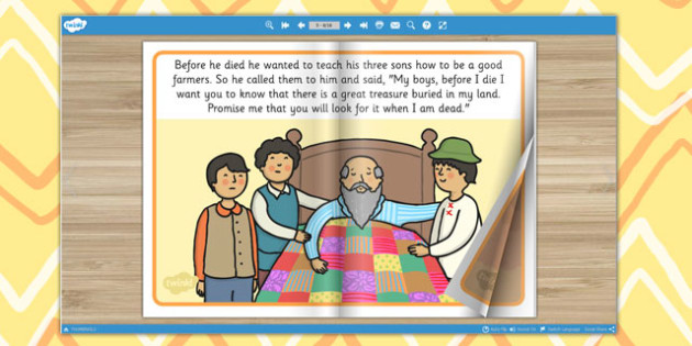 The Farmer and His Sons eBook - stories, storybook, aesops fabels