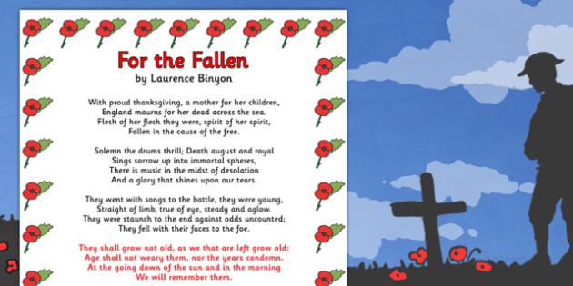 Image result for for the fallen poem