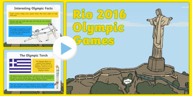 Stage Two Rio Olympics Information PowerPoint - Australia