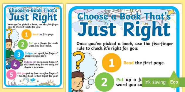 NEW Just Right Books A4 Display Poster