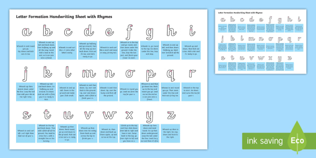 letter formation rhymes cursive letter formation handwriting sheet with rhymes 22836 | t l 5279 cursive letter formation handwriting sheet with rhymes ver 1