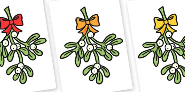Christmas Editable A4 Mistletoe - christmas, xmas, editable, image, editable image, editable picture, A4 mistletoe, mistletoe, display mistletoe, editable display image, display, display picture