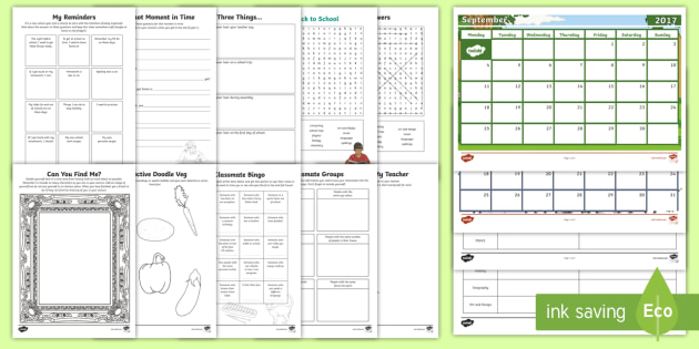 Y6 KS2 First Week Back Activity Pack - Back to school, b2s, ice breaker, first day, year 6, getting to know you, class, new term, new class
