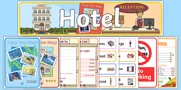 Hotel Role Play Pack - hotel, role play, activity, pack, resources