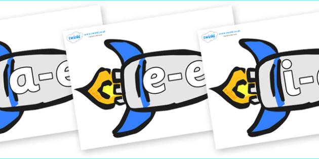 Modifying E Letters on Rockets (Plain) - Modifying E, letters, modify, Phase 5, Phase five, alternative spellings for phonemes, DfES letters and Sounds