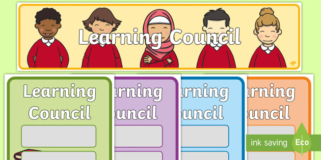 Learning Council Pack - posters, displays, display, poster, edit