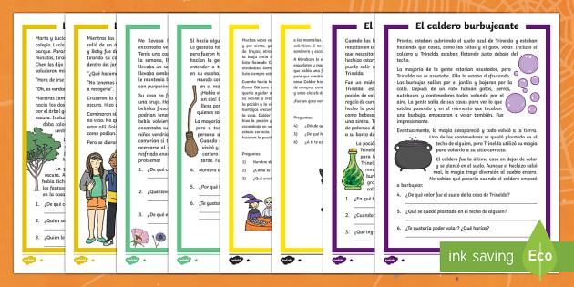 Halloween Comprensión lector de atención a la diversidad-Spanish