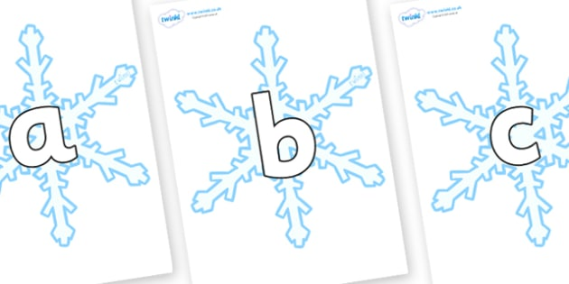 Phoneme Set on Snowflake - Phoneme set, phonemes, phoneme, Letters and Sounds, DfES, display, Phase 1, Phase 2, Phase 3, Phase 5, Foundation, Literacy
