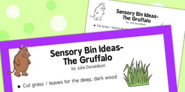 Sensory Bin Ideas The Gruffalo - sensory, bin, gruffalo, ideas
