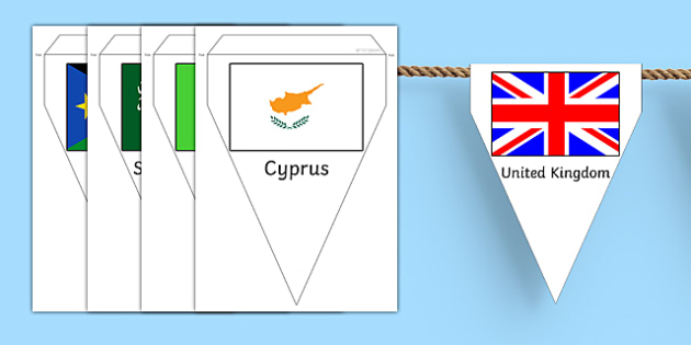 Flags of the World Bunting - flags of the world, flag, countries, world, bunting, Olympic Games, country, globe