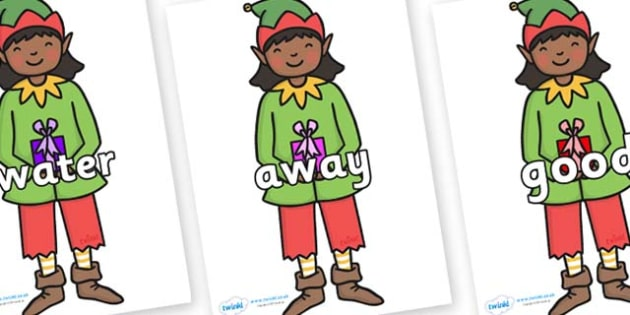 Next 200 Common Words on Elves - Next 200 Common Words on  - DfES Letters and Sounds, Letters and Sounds, Letters and sounds words, Common words, 200 common words