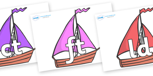 Final Letter Blends on Sailing Boats to Support Teaching on Where the Wild Things Are - Final Letters, final letter, letter blend, letter blends, consonant, consonants, digraph, trigraph, literacy, alphabet, letters, foundation stage literacy