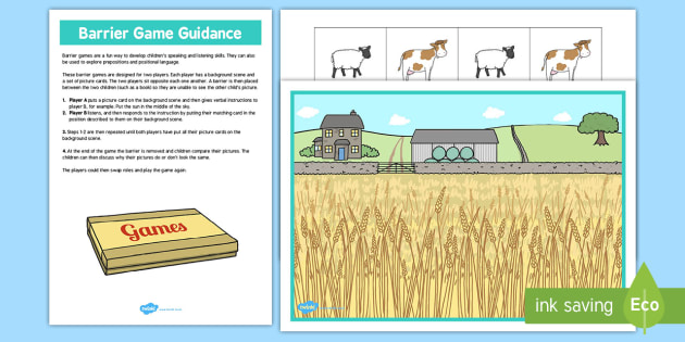 Farm Barrier Game - farm, barrier, game, activity, class, board