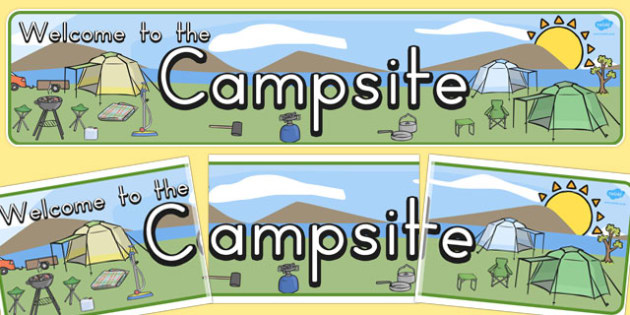 Australia Campsite Display Banner - australia, campsite, display