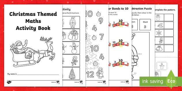 Christmas Maths Activities Pack Eyfs Twinkl