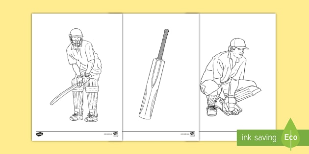 Cricket Colouring Pages - Cricket, Australia, sport, Cricket ...