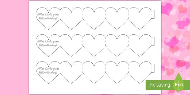 Valentinstag Herzchen Mini Buch   Valentinstag, Herz, Liebe, Klappbuch,  Valentinsgeschenk, Selbstgestalten