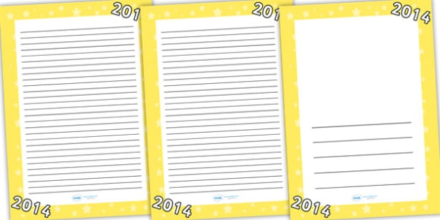 2014 Page Borders - 2014, page borders, border, template, writing