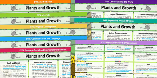 EYFS Plants and Growth Lesson Plan and Enhancement Ideas - planning, pack