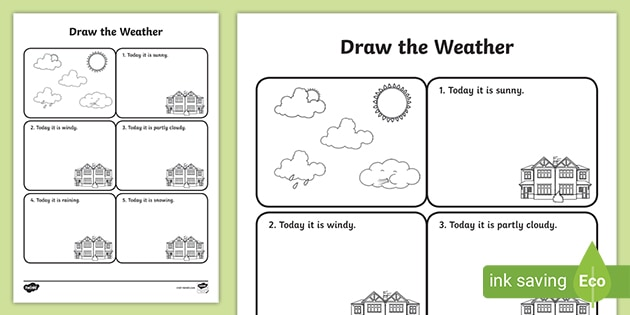 Draw The Weather Worksheet - Free Resource (teacher Made)