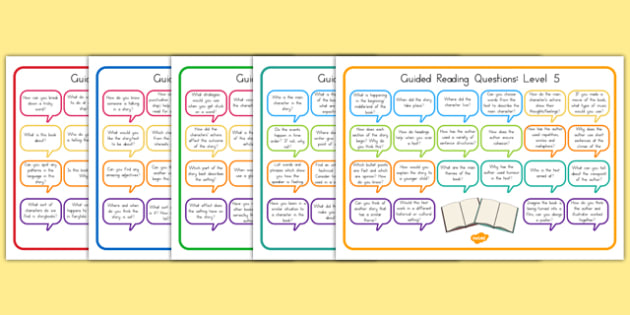 Levelled Guided Reading Questions Mats - australia, guided reading
